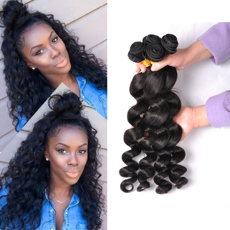 8A Brazilian Virgin Hair Loose Wave 3 Brazilian Hair Weave Bundles Honey Queens Hair Products Curly Weave Human Hair Extensions<br><br>Aliexpress