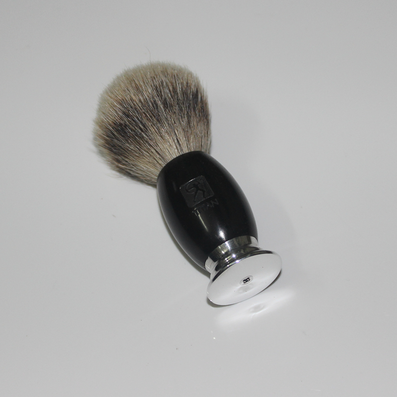 100% Ebony Handle Titan Men Shaving Brush Silvertip Badger Brushes Pincel Badger Hair Knot Brocha De Afeitar Pennello Da Barba<br>