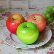 1PC Red/Green/Pink Fake Foam Apple Artificial Fruit Model House Kitchen Party Christmas Decoration Home Ornaments Mold Decor(China)