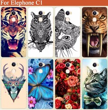 "Buy Elephone c1 Case Cover Luxury Diy Tiger Owl Cat Rose Eiffel Tower UV Painted Hard PC Back Cover elephone c1 5.0"" Cases for $1.18 in AliExpress store"