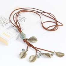 2016 New fashion women's ceramic classic neclaces & Pendants DIY handmade necklace for women Christmas Gift #DX2507