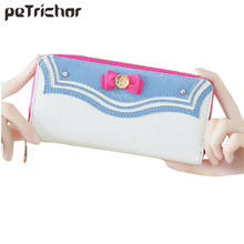 2017 Hot Samantha Vega Sailor Moon Ladies Long Zipper Female Bag Women Brand Leather Kawaii Pink Wallet Purse Portefeuille Femme(China)