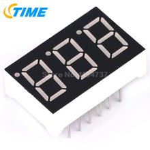 10PCS Common Cathode 0.36 inch 3 Bit Digital Tube Red Led Display Series Voltage Panel(China)