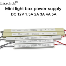 AC110-220V 12V 1.5A 3A 5A LED Driver Ultra thin Switching Power Supply Lighting Transformer for Slim Advertising Light Box signs(China)