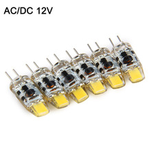 6pcs G4 LED Lamp COB LED Bulb 1W DC/AC 12V LED G4 COB Light Dimmable 360 Beam Angle Chandelier Lights Replace Halogen G4 Lamps
