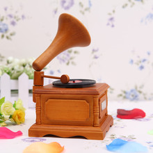 XXXG Retro imitation phonograph music box music box birthday gift in the choice of decoration technology(China)