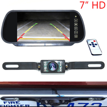 Buy Auto Parking Assistance 7 Inch TFT LCD Car Rearview Mirror Monitor 7 IR Night Vision Car Backup Reverse Rear View Camera for $49.99 in AliExpress store