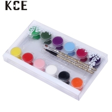 1pcs UV Gel 3D Painting paint polish Nail Art Paint Drawn Glitter 12 Color Acrylic Nail Art Bio Gel polish uv nail gel 2017 S18(China)
