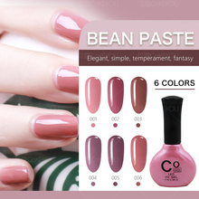 COKEKOU nail gel nude color series of nail polish milk brown color gel bean sand color light therapy jelly gel(China)