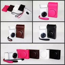 Black/White/Brown/Pink Camera Case Bag Leather Case Cover for Digital Camera Samsung GC200 Galaxy Free Shipping