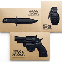 Notebook black 4 retro weapon notebook hunting knife grenade notebook modelling individuality office culture and education