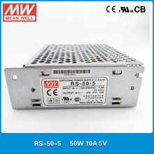 Original Meanwell RS-50-5 50W 10A 5V Switching Power Supply input 88-264VAC 5VDC power source CB UL CE approved