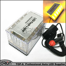 New Car Auto Truck Emergency Light 48 LED Magnetic Roof Flashing Strobe Top lights Lamp Yellow Amber