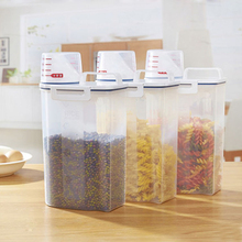 Kitchen Storage Organizer 2Kgs Grain Storage Container Rice Box Cereal Bean Container Sealed Box with Measuring Cup(China)