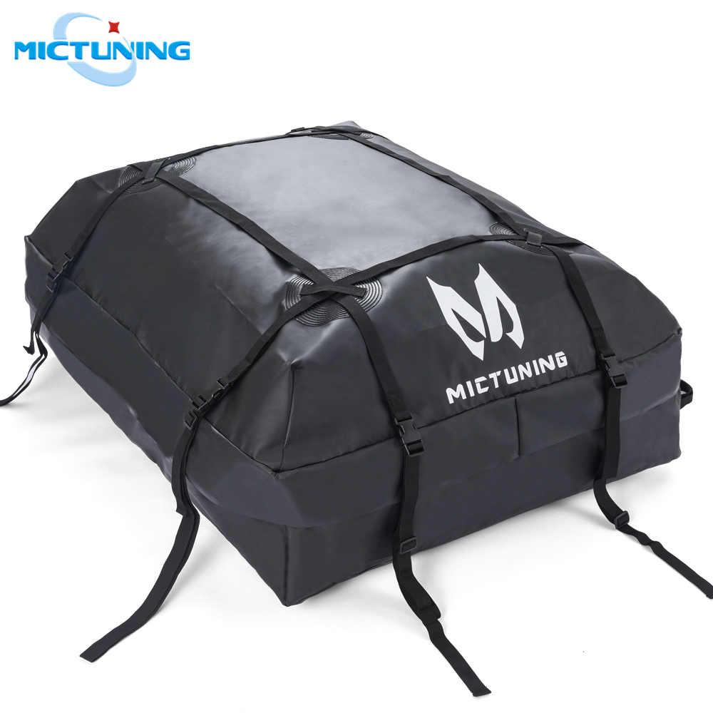 MICTUNING Car Top Carrier Rooftop Cargo Carrier Bag Heavy Duty Luggage Storage Bag 15-cubic ft Truck SUV Waterproof Roof Top Bag title=