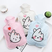 Novelty Hand Warmer Kids Cartoon Heart Ear Rabbit Animals Pocket PVC Water-Filling Hot Water Bag For Winter 3(China)
