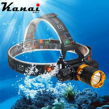T6 LED Head lamp Diving light  5800 Lumens Underwater Waterproof Headlamp mining lamp Diving head light with 18650 Battery