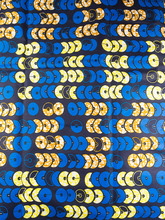 Ankara Fabric Suppliers HOLLANTEX Blue Yellow Orange Circle Line Designs htw66305(China)