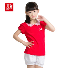 girls polo shirt summer short sleeve kids polo size 6-15t children t shirts brand lace collar princess tees kids girls clothes