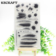 KSCRAFT Black ink Transparent Clear Silicone Stamp/Seal for DIY scrapbooking/photo album Decorative stamp sheet