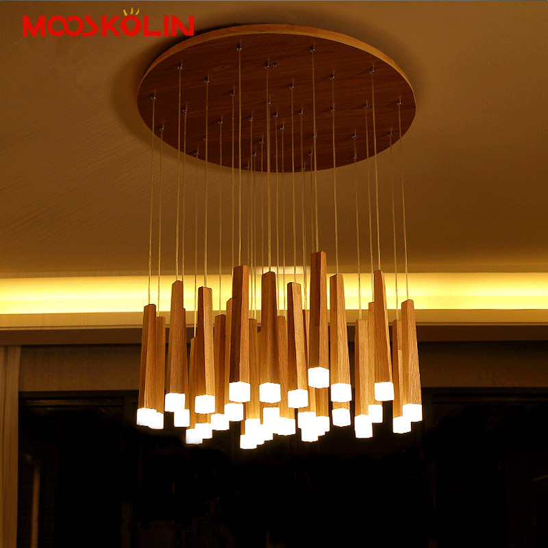 2017 New Modern Natural Wood Pendant Lights 110V 220V LED Pendant Lamp For Living Dinning Room Restaurant Home Lighting Fixtures<br>