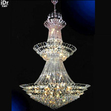 Chandeliers Gold chandelier lamp hotel lobby lamp aisle lights D120cm x H200cm Hotel Lighting(China)