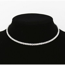 1 Row Crystal Rhinestone Necklace Choker Silver Wedding Party Chain(China)