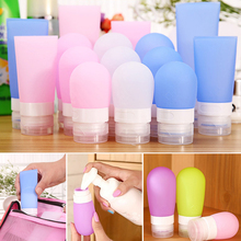 Portable Mini Silicone Bottle Traveler Packing Press Bottle Refillable Bottles for Lotion Shampoo Bath 38ml 60ml 80ml S4945(China)