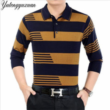 2017 Spring Brand Clothing Stripe Polo Men Cotton Long Sleeve polo top Bottom Tops Striped Polo Shirts for Men M-3XL(China)