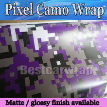 Purple Pixel Camo Vinyl Wrap Car Wrap Film With air bubble Free  Digital camouflage foil  truck & boat cover skin 10m/20m/30m