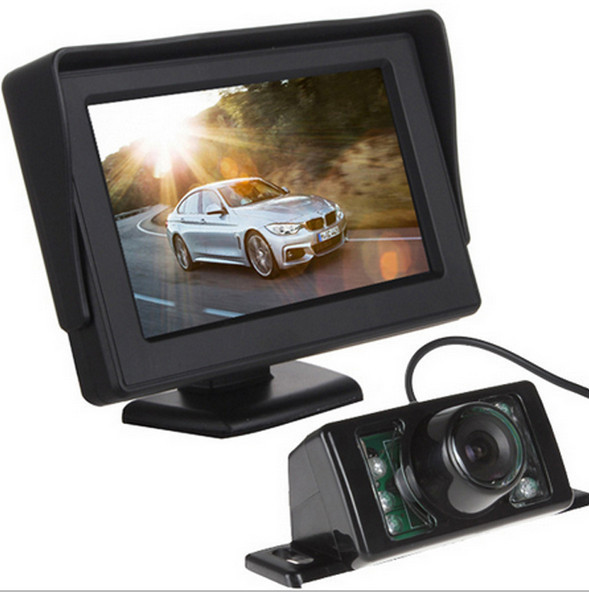 Best quality Waterproof Car Rearview Backup Night Vision Camera With 4.3 Inch TFT LCD Monitor For Vehicle Parking Assistance<br><br>Aliexpress