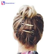 New Fashion Popular Hair Clip Women Lady Girls Scissors Shape Barrette Hairpin Hair Accessories Decoration Women Hair Jewelry