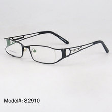 s2910 Woman's designer metal eyewear full rim optical frames new prescription spectacles(China)