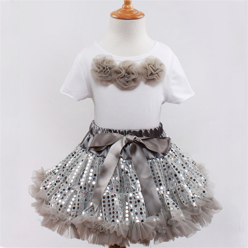 Baby Girl Clothing Set Children Pettiskirt Cotton Ballet Top and Sequined Sling Spake Tutu Skirts Party Ball Gowns Clothing Kids<br><br>Aliexpress