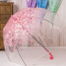Sakura Cherry Flower Blossom Transparent Umbrella Rain Women 3 Folding Umbrella Female Rain Tools Sun Parasol Parapluie o