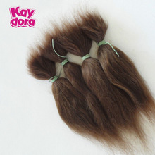 "15cm / 6"" Dolls Accessories 100% Pure Mohair For DIY Reborn Baby Dolls Reborn Baby Doll Hair Wigs 13 g Long Hair Gold Brown(China)"