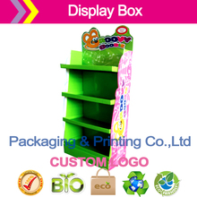 display stand storage rack/ new product paper dispalys /Seasonal pallet dispaly for supermarket cardboard pop display