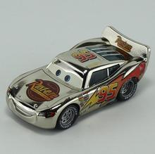 Cars No.95 Metallic Finish Silver Chrome Diecast Metal Toy Car For Children 1:55 Loose Brand New In Stock Lightning McQueen(China)