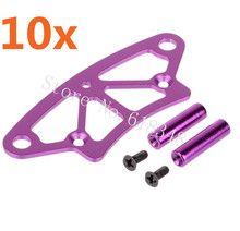 Wholesale 10 Sets/Lot 102058 (02009) HSP 1/10 Upgrade Parts Aluminum Front Bumper 4WD RC Drift Car On Road Flying Fish SONIC(China)