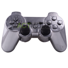 For PS3 Controller Chrome Gun Shell Case Replacement Housing with Match Butttons(China)