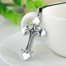 Hot Fashion Cool Men's Cool Stainless Steel Layer Cross Pendant Necklace Accessories Jewelry Gift