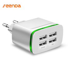 Seenda Phone Charger USB Charger 4 Ports Portable Fast USB Charging Universal Travel Adapter For iPhone Samsung XIAOMI Huawei(China)