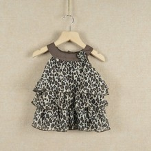 New arrival! Baby girls' dresses autumn-summer chiffon cake dress for kids fashion leopard print baby tutu dress 18M-6T