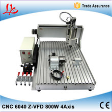 800W LY CNC 6040 Z-VFD automatic 3d furniture sculpture wood carving cnc router machine for wood stone metal