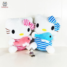 BOLAFYNIA Children Plush Stuffed Toys hello kitty hug fish Baby Kid Toy for Christmas Birthday Gift(China)