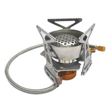 Outdoor Camping Cooking Big Power Windproof Gas Stove Butane Burner Portable Foldable Split Furnace