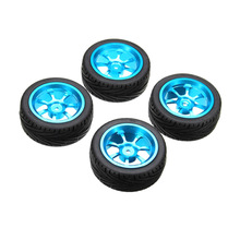 2017 New 4pcs Alloy Rims & Tires RC Car Wheels for 1/18 WLtoys A959-B A979-B A959 A969 May23_35