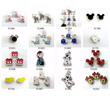 10pcs Alloy Popular Carton Movie Role Charms Mickey Charms For Jewelry Floating Charms For Float Memory Living Glass Lockets(China)