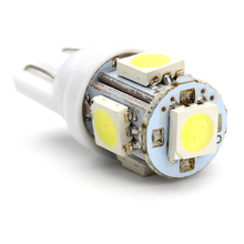 10pcs/lot LED Car Side Wedge Light T10 5050 W5W 5 SMD 194 168 Dashboard License Number Plate Lamps Parking Tail Bulb Car Styling