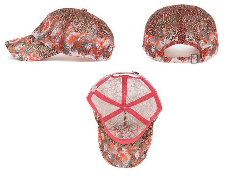 16 New Arrival high quality fashion Women cap Colorful flower rhinestone Baseball Cap snapback Adjustable Mesh Sunhat B343 6